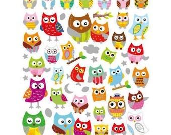 Owl Stickers • Owl Love • Owl Birthday • Kawaii Sticker • Cute Owl • Owl Party • Owl Sticker (SK4238)