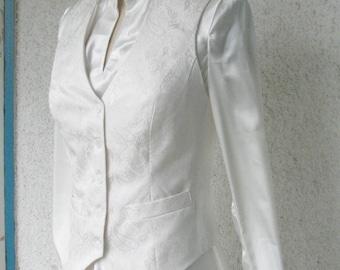 Lesbian wedding vest etsy for Lesbian wedding dresses and suits