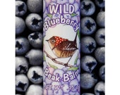 Wild Blueberry Lip Balm, All Natural, .15 ounce Tube