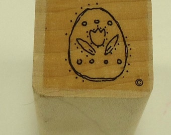 Decorated Easter Egg Wood Mounted Rubber Stamp Close To My Heart