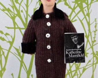 Katherine Mansfield Writer and Author  Doll Art Miniature