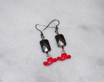 Cowboy Hat Earrings, Red County Western, Charm Dangle Jewelry, Chandelier Jewelry, Dangle & Drop Earrings