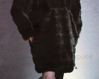 Vogue 2993 Fabulous Furs by Donna Salyers Coat Sewing Pattern Sizes 16 18 20 22 Uncut
