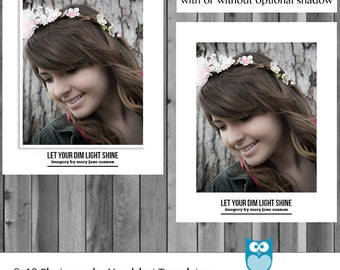 Instant Download Photoshop Layered Customizable Photography Headshot Head Shot Professional Template 8x10 and 10x8 Portrait Landscape PSD