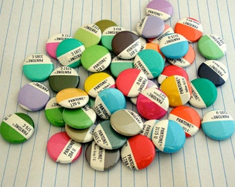 Pantone Magnet Set / Pantone Buttons / Recycled Pantone - Graphic Designer Gift, Office Gift
