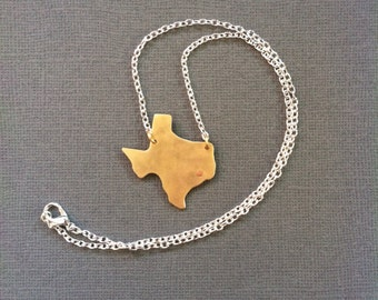 Texas Necklace - custom state charm - made to order