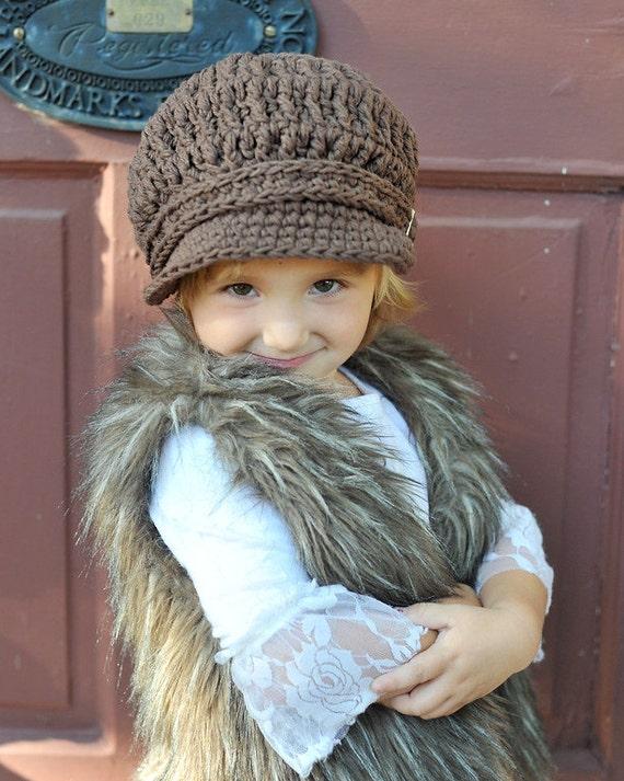 Girls Newsboy Hat 4T Toddler Newsboy Cap to Preteen Toddler Girl Newsboy Toddler Boy Newsboy Girls Hat Boys Hat Toddler Hat Brown Newsboy