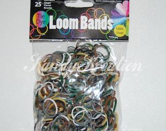 400 Camouflage Tie Dye Camo Mix Loom Bands Stripes 25