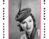 "Vintage Crochet Pattern 1930's Gimp Hat Pattern ""The Bumper"" -INSTANT DOWNLOAD-"