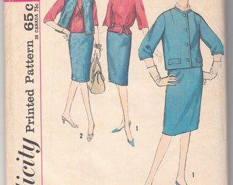"1960's Vintage Sewing Pattern Ladies' Separates Simplicity 4593 35"" Bust - Free Pattern Grading E-book Included"
