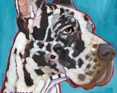 Harlequin great dane metal sign wall art, harlequin coasters, set of blank notecards, harlequin magnet, harlequin pillow or tote bag
