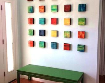 Abstract Wall Art | Wood Wall Art | Modern Wall Decor | Original Painted Wood Art | Hospitality Art | Rosemary Pierce Modern Art