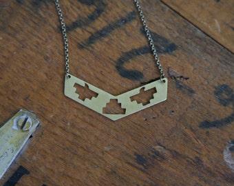 Sacred Bird Chevron Necklace
