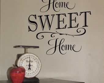 Home Sweet Home Wall Decal - Entry way Wall Decor - Home Decor