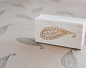 Paisley Rubber Stamp - Decorative Stamp - DIY Stamp