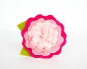 Dog Collar Flower - Valentine's Day Pink Ombre Rose