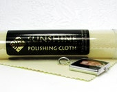 A Large Polishing Cloth to keep for yourself, give with your gift. Sunshine Jewelry Cleaner Cloth