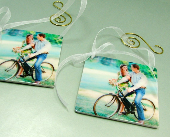 Set of 2 Photo Ornaments for your Christmas Tree or Office - OOSx2