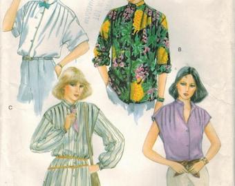 1970s Vogue 7304 Vintage Sewing Pattern Size 14 Misses Blouses Size 14 Bust 36