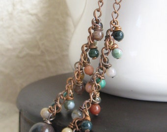 Jasper Dangle Drop Earrings