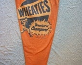 Wheaties Recycled T-Shirt Pants Leggings Tights for Yoga Workout Roller Derby Medium