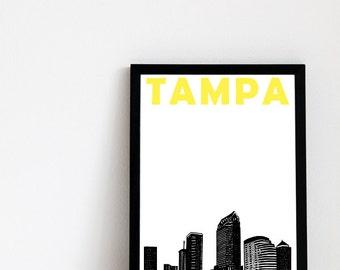 Tampa Print // Florida Art Print