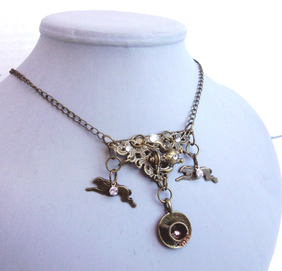 necklace mad hatter stea jewelry in