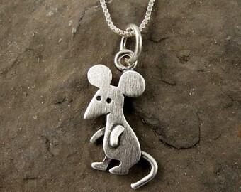 Tiny mouse necklace / pendant