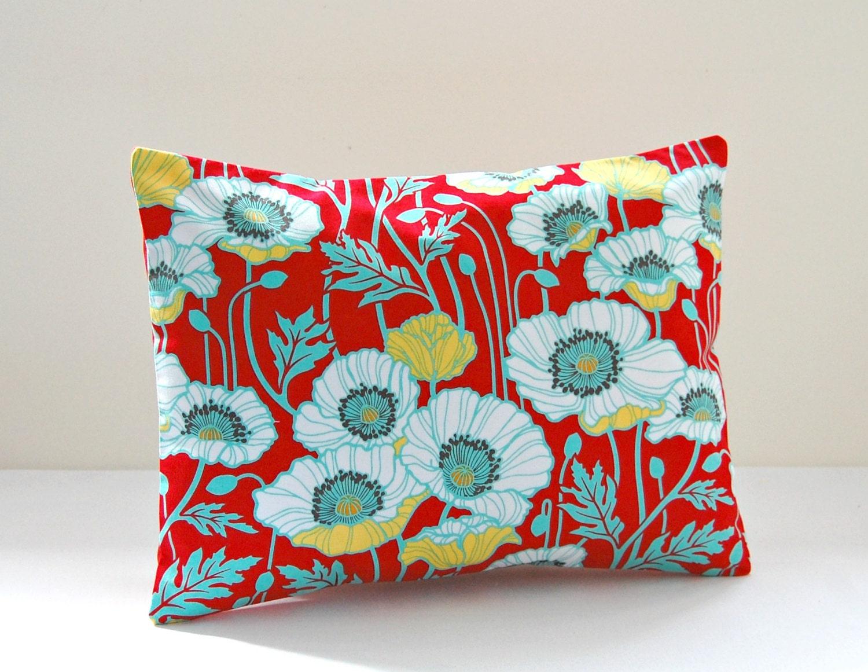 12 x 16 inch lumbar cushion cover red mint green yellow