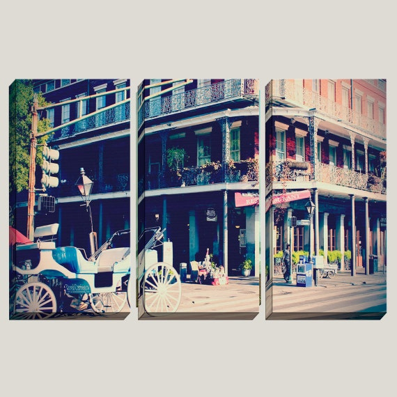 Giclee Large Canvas Art New Orleans French Quarter By