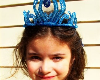 ICE QUEEN Inspired Crown Tiara  for dress up, Halloween, Birthday,