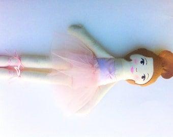 Custom Ballerina Doll, Cloth Doll, Ballet Dancer