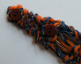 WIDE HEADBAND sale, Syracuse Illinois University Virginia Auburn football Denver New York Chicago Detroit orange blue wool winter i623