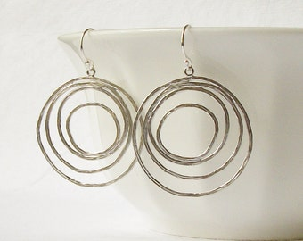 Silver Circle Earrings