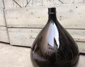 RESERVED LISTING for Beth Roark Rare Amber Grande XXL Antique Italian Damigiana (Demijohn,or wine bottle) from late 1800's - 1900's ( #7)