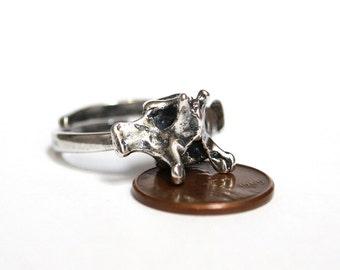 Silver Fox Vertebrae Ring  425