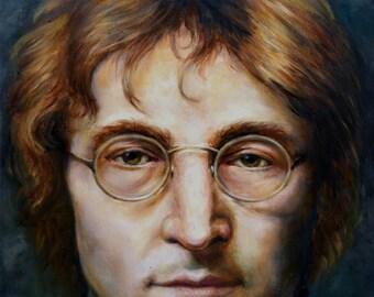 Print - Portrait of John Lennon by J. Ponte