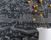 Province Wallpaper in Graphite - 10m x 52cm roll
