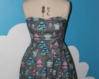 SALE - cuckoo clock sweet heart dress - 8-12