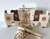Dog art display clips, Kids Decor, Nursery Decor, Dog Wall Art, eco friendly