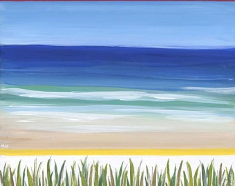 Beach Grass PRINT of an Original Acrylic Painting