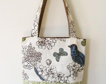 Two Part Tote-Bird and Butterfly- Market