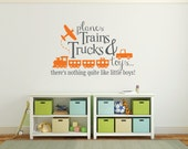 Playroom decal, planes, trains, trucks and toys DB343