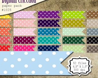 Polka Dots Flags In JPEG and PNG 26 Shades - Instant Download - Digital Paper Pack - DigitalPerfection Paper Pack 1025