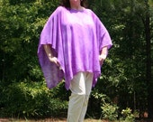Tie Dye Chiffon Poncho, Caftan, Tunic, Beach Cover Up - Multiple Colors, Styles