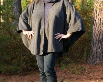 Charcoal Grey Antipill Fleece Shawl