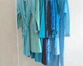 blue green vintage dress instant wardrobe wholesale lot dresses secretary blouse