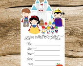 Snow White Party - Set of 8 Snow White Invitations by The Birthday House