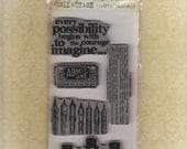 Tim Holtz Visual Artistry Curious Possibility cling foam stamp set by Stampers Anonymous (free shipping)