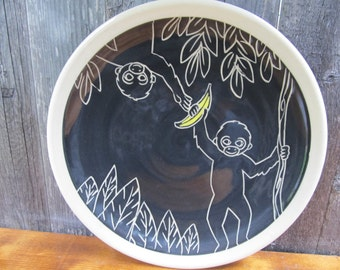 Monkey Plate, Dinner Plate, Serving Dish